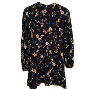 Forever 21 | Floral Flounce Sleeves Mini Dress - L